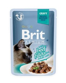 Premium Cat Fillets in Gravy wołowina 85g