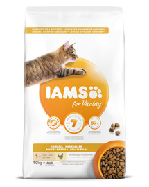 Cat Adult All Breeds Hairball Control Chicken 10 kg