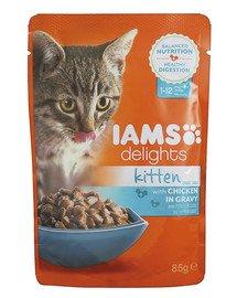 Cat Kitten All Breeds Chicken In Gravy Pouch 85 g