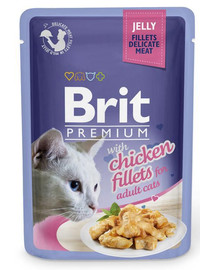 Premium Cat  Fillets in Jelly kurczak 85g