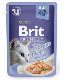 Premium Cat  Fillets in Jelly łosoś 85g