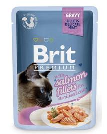 Premium Cat Fillets in Gravy for Sterilised łosoś 85g