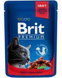 Premium Cat Adult wołowina i groszek saszetka 100g