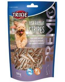 Przysmaki PREMIO Stripes, królik i dorsz, 100g