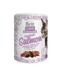 Care Cat Snack Superfruits Salmon 100g
