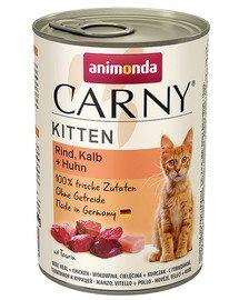 Carny Puszka Kitten Wołowina/Cielęcina/Kurczak 400 g
