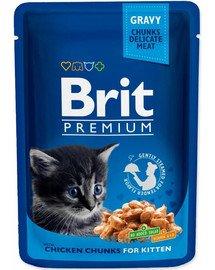 Premium Cat Kitten kurczak saszetka 100g