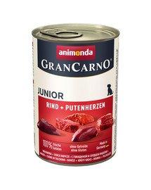 Grancarno puszka 800 g junior wołowina + serca indycze