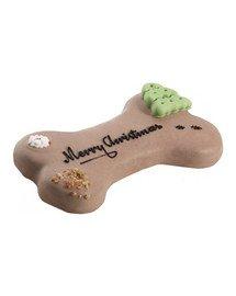 """Tort dla psa """"Merry Christmas"""" orzechowo - czekoladowy"""