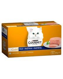 Purina Gourmet Gold mus tuńczyk 4x85 g