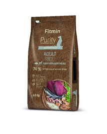 Dog Purity rice adult fish & venison 12 kg