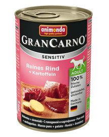 Grancarno Sensitive wołowina z ziemniakami 800 g