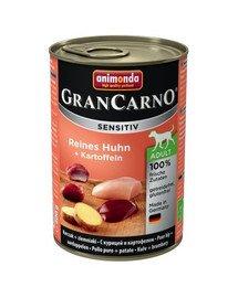 Grancarno Sensitive kurczak z ziemniakami 800 g