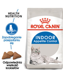 Indoor Apetite Control 2 kg karma sucha dla kotów dorosłych, przebywających wyłącznie w domu, domagających się jedzenia
