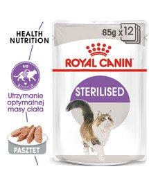 Sterilised 12x85 g pasztet karma mokra - pasztet dla kotów dorosłych, sterylizowanych