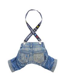 Spodnie z szelkami, jeans, 61-63 cm/89-91 cm