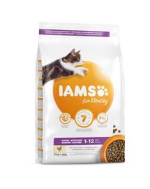 IAMS for Vitality Kitten ze świeżym kurczakiem 3 kg