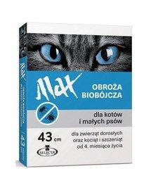 Obroża biobójcza Max 43 cm niebieska