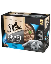 Saszetka 48x85g Craft Collection Smaki Rybne - mokra karma dla kotów w sosie (z łososiem, z tuńczykiem, z białą rybą, z dorszem)