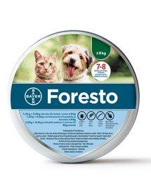 FORESTO Obroża dla psa i kota przeciw kleszczom i pchłom poniżej 8 kg