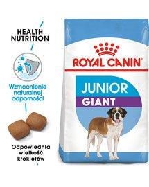 Giant junior 15 kg + 3 kg gratis karma sucha dla szczeniąt od 8 do 18/24 miesiąca życia, ras olbrzymich