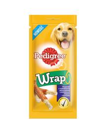 Wrap 40g - przysmak dla psów z rozdrobnioną skórą wołową i prawdziwym mięsem z kurczaka