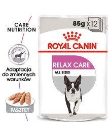 Relax Care karma mokra - pasztet dla psów dorosłych narażonych na działanie stresu 12 x 85 g