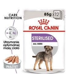 Sterilised karma mokra - pasztet dla psów dorosłych, sterylizowanych 12 x 85 g