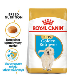 Golden Retriever Junior 3 kg karma sucha dla szczeniąt do 15 miesiąca, rasy golden retriever