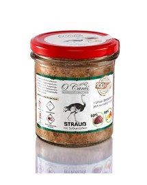 Danie mięsna: Struś z ziemniakami w słoiku szklanym 300 g