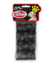 Dog Lifestyle worki na psie nieczystości, 4 rolki x 20 szt. czarne