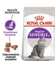 Sensible 33 karma sucha dla kotów dorosłych, o wrażliwym przewodzie pokarmowym 10 kg