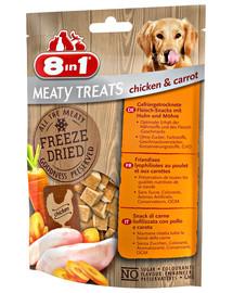 Mięsne liofilizowane przysmaki kurczak i marchewki 50 g