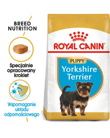 Yorkshire Terrier Junior karma sucha dla szczeniąt do 10 miesiąca, rasy yorkshire terrier 0.5 kg