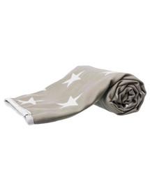 Koc Stars, 150 × 100 cm, szarobrązowy