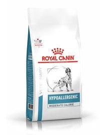 Dog hypoallergenic moderate calorie 7 kg