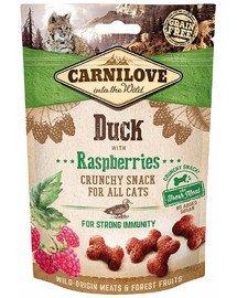 Crunchy snacks chrupiące przysmaki z kaczką i malinami 50 g