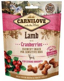 Crunchy snacks chrupiące przysmaki z jagnięciną i żurawiną 200 g