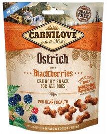 Crunchy snacks chrupiące przekąski ze strusiem i jeżynami 200 g