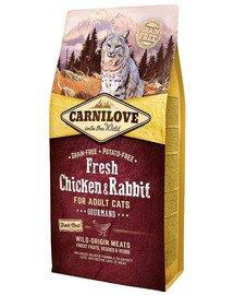 Adult Gourmand fresh kurczak i królik 6 kg