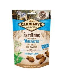 Semi moist snacks delikatne przysmaki z sardynkami i czosnkiem niedźwiedzim 200 g