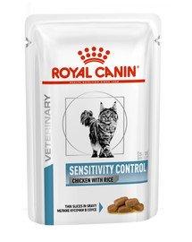 Cat Sensitivity kurczak i ryż 85 g x 12 szt.