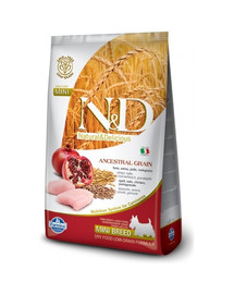 N&D Low Grain Chicken & Pomegranate Adult Mini Dog 7 kg