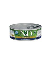 N&D Cat prime lamb & blueberry 80 g