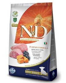 N&D GF Pumpkin Lamb & Blueberry Puppy Mini 2.5 kg