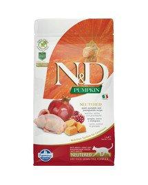 N&D Cat Pumpkin Neutered Quail & Pomegranate 1.5 kg