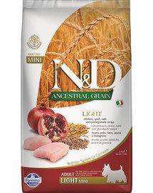 N&D Ancestral Grain dog light chicken & pomegranate 2,5 kg