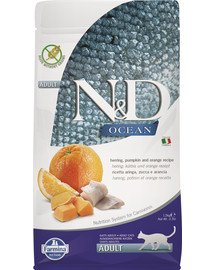 N&D Ocena cat adult herring pumpkin and orange 1,5 kg