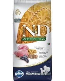 N&D Ancestral grain dog adult medium/maxi breed lamb, spelt, oats, blueberry 12 kg