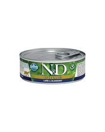 N&D Cat prime lamb & blueberry 80 g